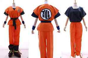 S-01-DRAGON-BALLE-Z-Son-Goku-Kame-survetement-cosplay-6-pieces-costume-orange
