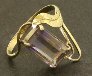 18K-gold-beautiful-2-0CT-9-4-X-6-3mm-ametrine-solitaire-cocktail-ring-size-4-5