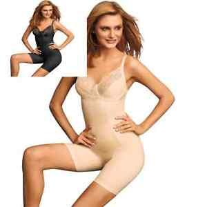 Maidenform-Shapewear-2045-Vintage-Chic-Body-Shaper-Beige-or-Black