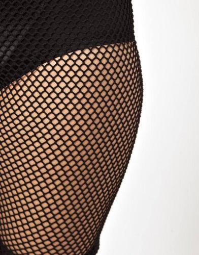 Women Black Sporty Fishnet Mesh 3//4 Legging cycling Shorts hot pants Stockings