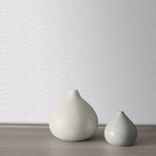 Precious Silks Silver and Grey Art Deco Wallpaper by Muriva 701373
