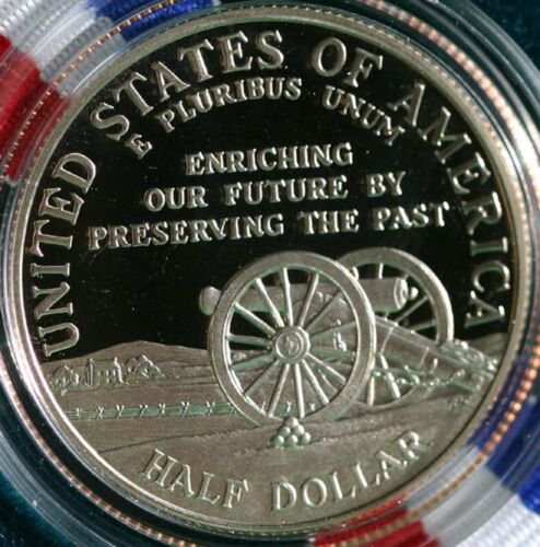 1995 Civil War Battlefield PROOF Half Dollar US Commemorative 50c Coin Box COA