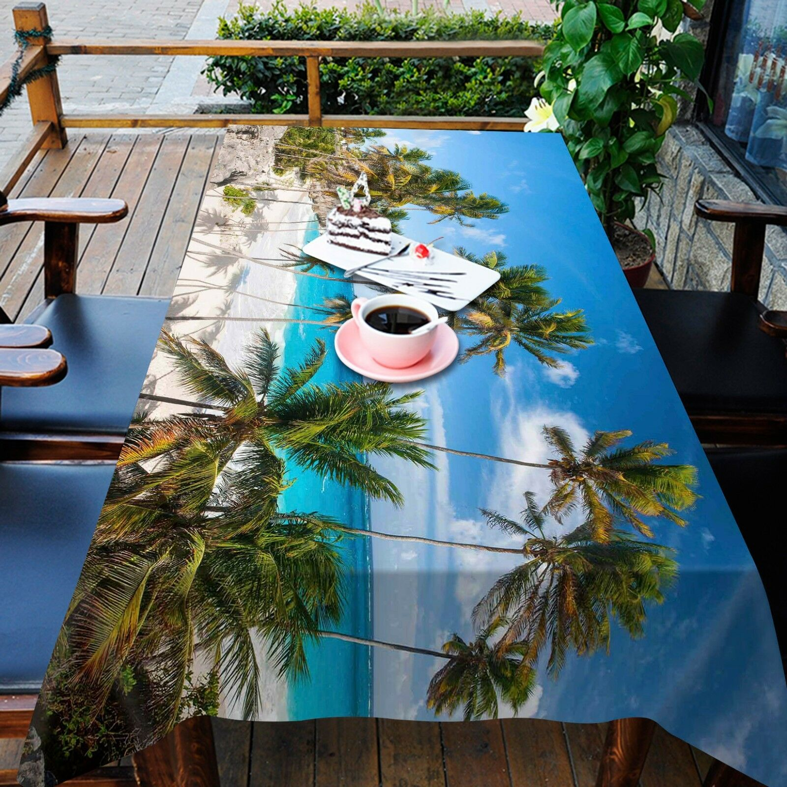 3D Beach 93 Tablecloth Table Table Table Cover Cloth Birthday Party Event AJ WALLPAPER UK 726159