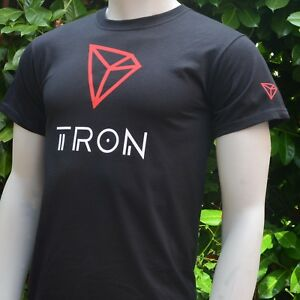 Tron-TRN-Logo-Men-039-s-T-Shirt-Print-on-Front-Back-and-Both-Sleeves