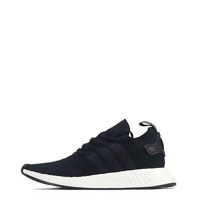 san francisco 6a578 bd2e1 adidas Originals NMD R2 Primeknit Men's Trainers, Black/White Ex Return |  eBay