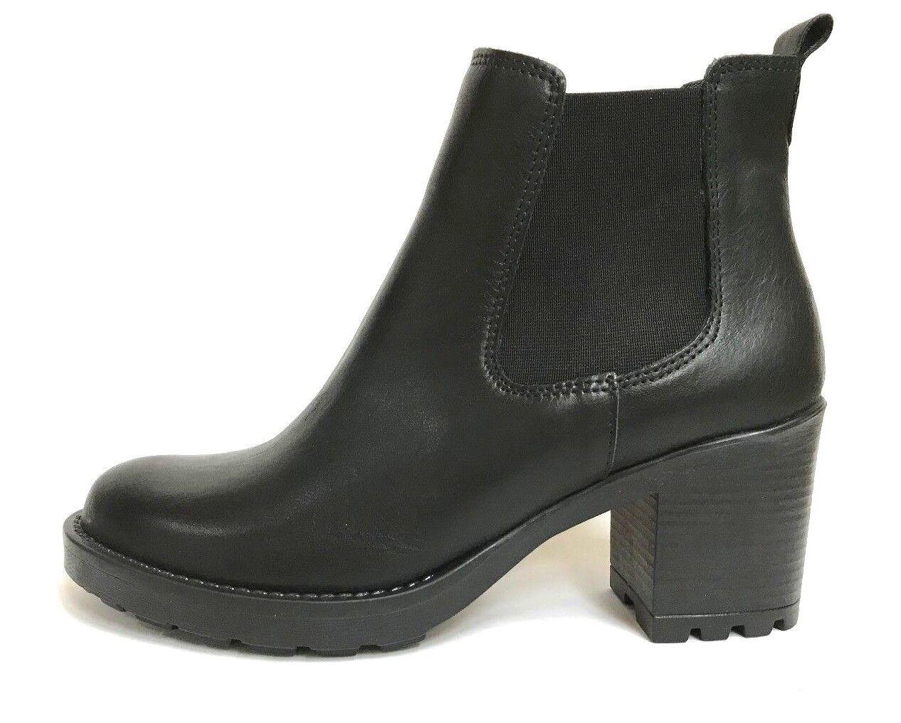 SCARPE DONNA ITALY scarpe STIVALETTI TACCO 5502 NERO PELLE INVERNO SCONTO 30%