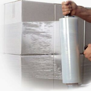 CLEAR 400MM X 200M PALLET SHRINK WRAP HEAVY DUTY EXTENDED CORE 17 MICRON  24 HR