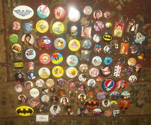 Lote-de-95-Vintage-80s-90s-Pop-Musica-Roca-Personalidad-Llaveros-Botones