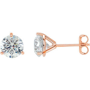 7b1be83bb 2.00 Ct Martini Round Cut Diamond Stud Earrings 3 prongs earrings ...