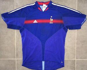 Maillot-Adidas-Equipe-De-France-Euro-2004-Taille-XL-FFF-98-Zidane