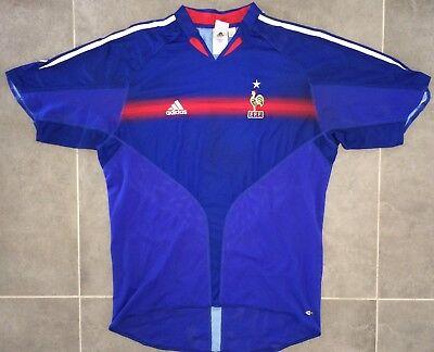 Maillot Adidas Équipe De France Euro 2004 Taille XL FFF 98