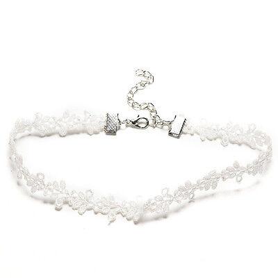Floral & Plain Gothic Choker Collar Lace Velvet Handmade Necklace Bracelet GT