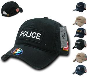 ef43b0e0167150 Dual Flag Raid US USA Military Army Law Enforcement Embroidered Caps ...