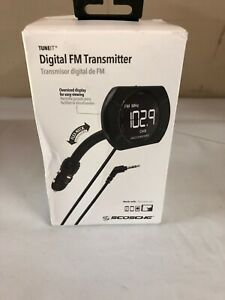 Digital FM Transmitter Audio FMTD13-SP1 Back Lit Display Flex-Neck Open Box