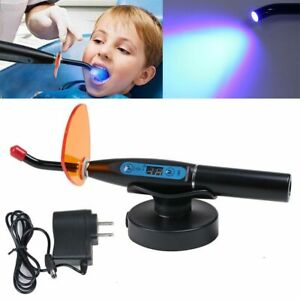 Dental-10W-2000mw-Wireless-Cordless-LED-Curing-Light-Lamp-Dentist-Black-2019-US