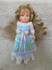 Lady Lovely Locks Maiden FairHair Doll Blue Dress Vintage 1986 Toy TCFC