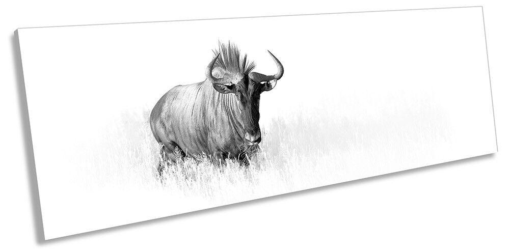 Antelope Minimalist Weiß PANORAMA CANVAS Wand KunstWORK Drucken Kunst