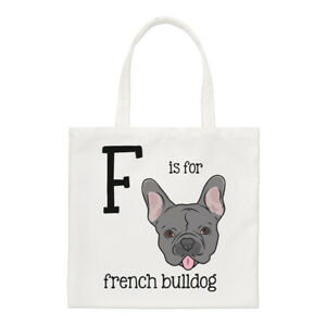 Letter-F-Is-For-French-Bulldog-Small-Tote-Bag-Alphabet-Funny-Shoulder