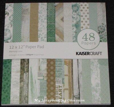 "Liberaal Kaisercraft 'memory Lane' 12x12"" Paper Pad 48 Sheets (24 Designs X2) Kaiser"