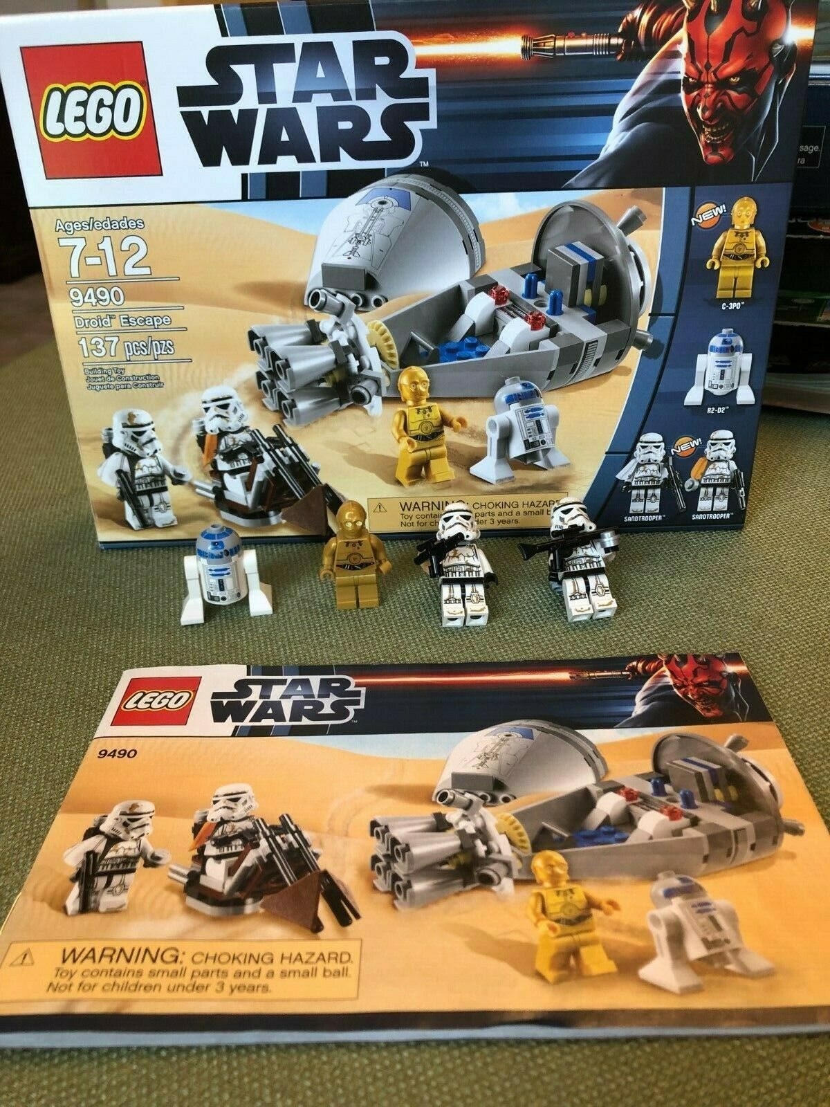 Lego estrella guerras 9490 Droid  Escape C-3PO e R2-D2  stanno facendo attività di sconto