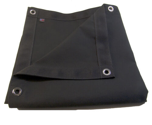 Black w// Reinforced Edging /& Nickel Plated Spur Grommets 3/' X 4/' Sunbrella Tarp