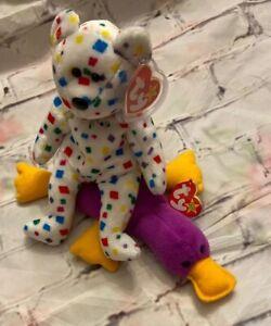 Set Of Two Patti & Ty 2k  Beanie Baby Toys Plush Gift Play Original Ty Lot