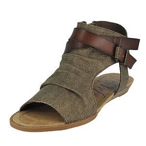 53c64c2367140 Buy Blowfish Balla Women Open Toe Canvas Brown Gladiator Sandal 10 ...