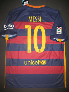 super popular 50340 e44c9 Details about New 2015 Nike Authentic FC Barcelona FCB Jersey Shirt Kit  Lionel Messi Argentina