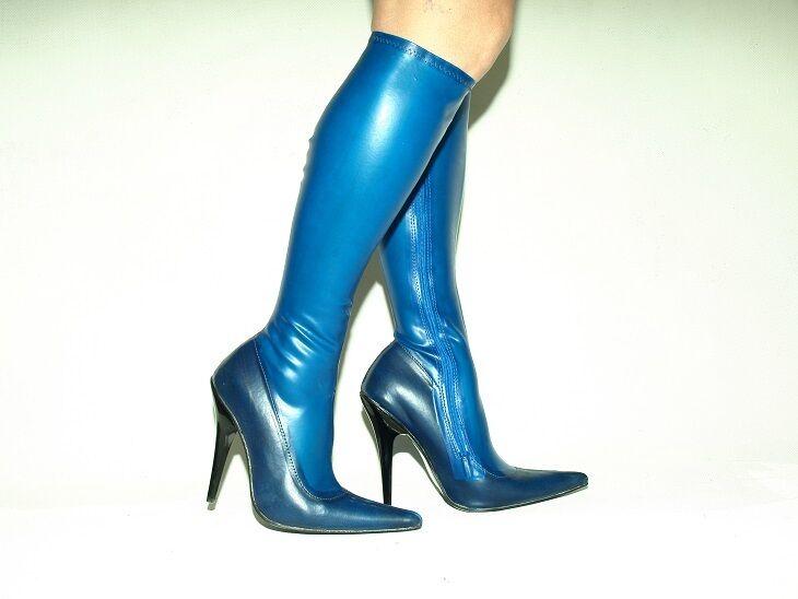 stiefel latex gummi 100% -Größe 35-47 producer -Poland. Blau  -PROMOTION 1237