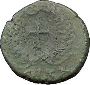 THEODOSIUS-II-425AD-Ancient-Roman-Coin-CROSS-within-wreath-i31571