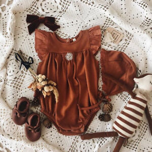 11131ea503b Image is loading Newborn-Infant-Baby-Girls-Ruffle-Romper-Bodysuit-Jumpsuit-