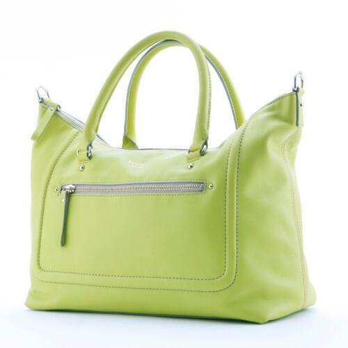 Kate Spade Leather Shoulder Tote Bag, Light Lime G