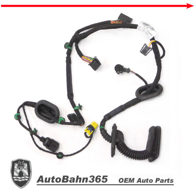 New Genuine OEM VW Drivers Door Wiring Harness Jetta 2005.5-2006 Left Side Front