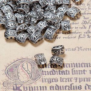 Link-Verbinder-Zwischenperlen-3-Locher-Bronze-Silber-farbe-schmuck-basteln