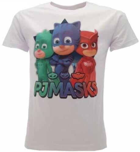 T-shirt maglia bambino//a PJ MASKS  originale etichetta bianca//blu//rossa