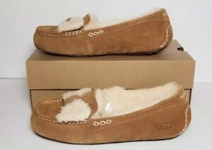f365f3ba33f Details about UGG ANSLEY FUR BOW WOMEN'S SIZE 11 CHESTNUT NEW IN BOX 1019768