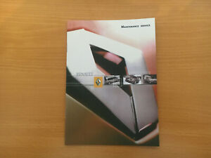 RENAULT-CLIO-SERVICE-BOOK-NEW-GENUINE-NOT-DUPLICATE-ALL-RENAULT-CARS-amp-VANS
