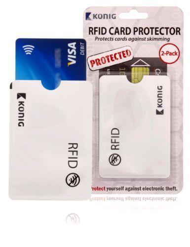 sans contact écrémage Konig RFID Carte Protecteur-Protège from Electronic Vol