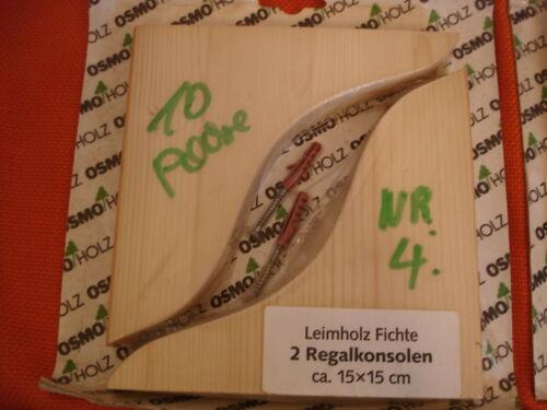 Osmo paire wandkonsolen pin bois massif étagère console 4 tailles au choix rp