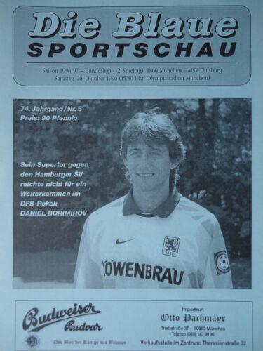 Programm Die Blaue 1996//97 TSV 1860 München MSV Duisburg
