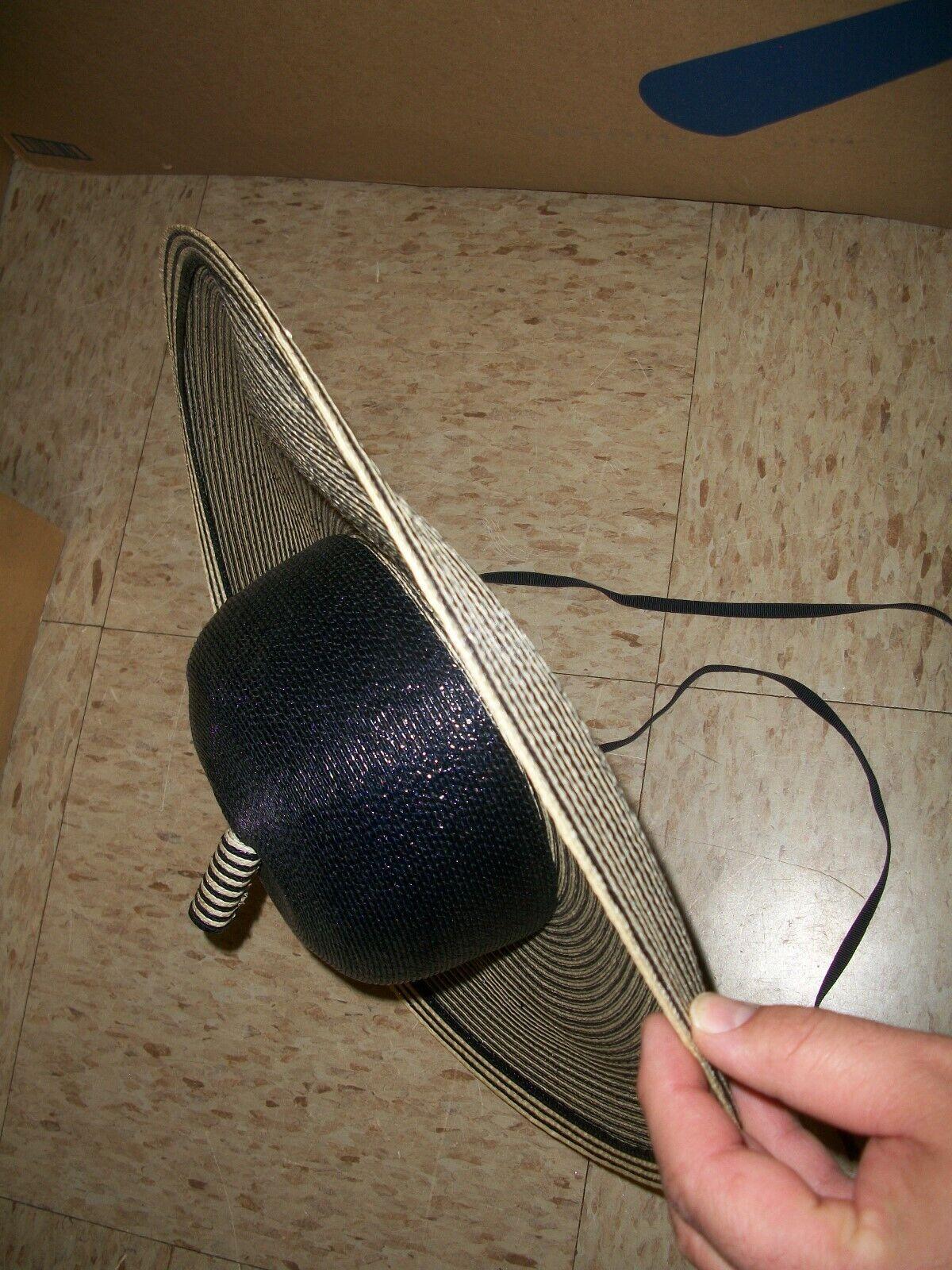 1950s Adolfo II Paris Women's Straw Wide Brim Hat… - image 8