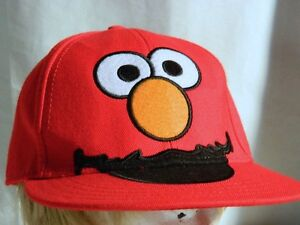 62f382debe690 Sesame Street ELMO Adult Cap Hat Fitted Wool Acrylic Blend Size ...