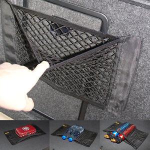 voiture noire coffre arri re si ge arri re cargo lastique string net mesh sac de rangement. Black Bedroom Furniture Sets. Home Design Ideas