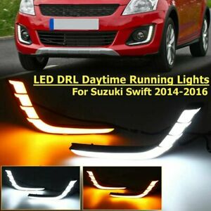 LED-Daytime-Running-Light-DRL-lamp-Turn-Signals-For-Suzuki-Swift-2014-2015-2016