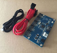 Adapter Card SATA 1 to 5 Port Converter (SATA Port Multiplier) Riser card Hub