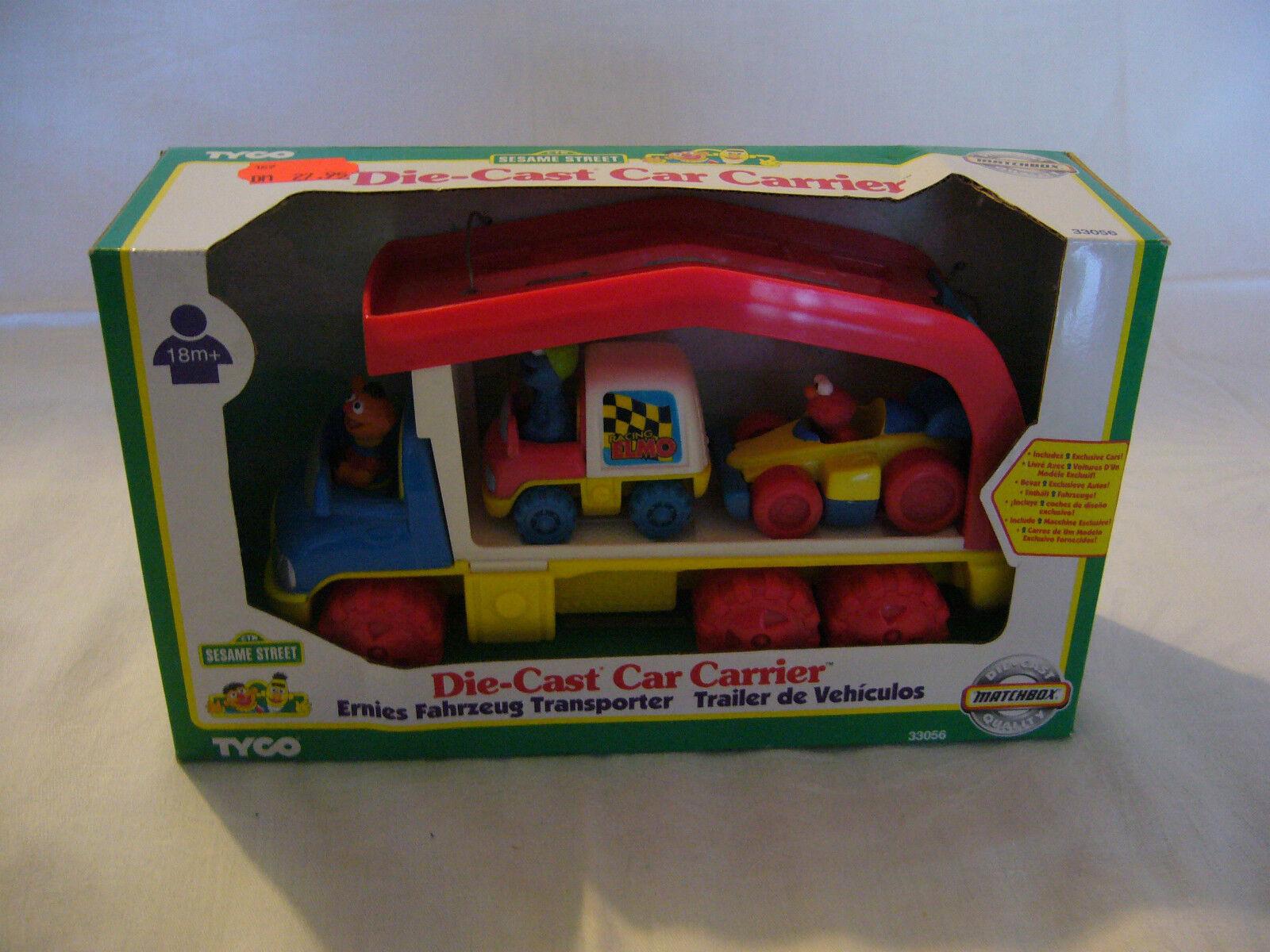 MATCHBOX-les-Cast Car Carrier-Sesame Street -1997 Tyco-soumis véhicule transport