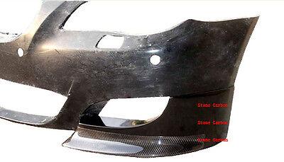 Carbon Fiber Front Splitter Lip Spoiler with FRP Base 4pcs For 06-08 BMW E60 M5