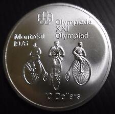 CANADA - 10 DOLLARS 1976 - CYCLISME - JO MONTREAL 76 - ELIZABETH II Argent