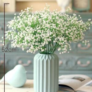 2-8-20PC-Gypsophila-Baby-Atem-Kuenstliche-Blume-Hochzeit-Dekor-Chic-Weiss-Blume