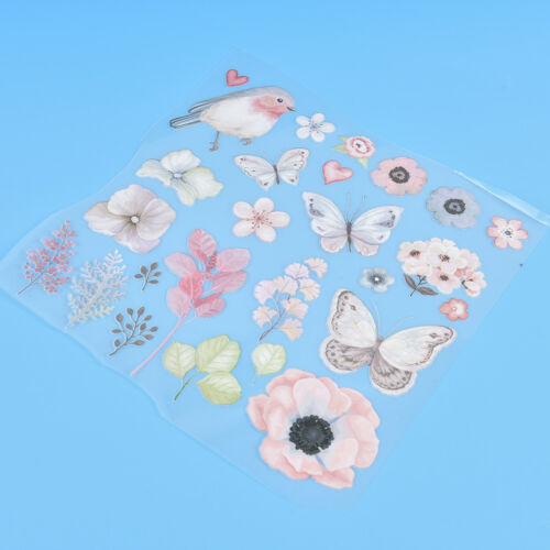 1Pc Flower Bird Patches For Clothes Iron-On Transfers Easy Print Diy AppliquesZP